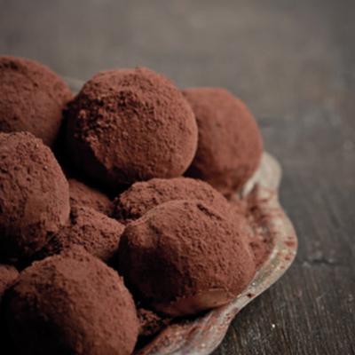 truffes au chocolat et au thé